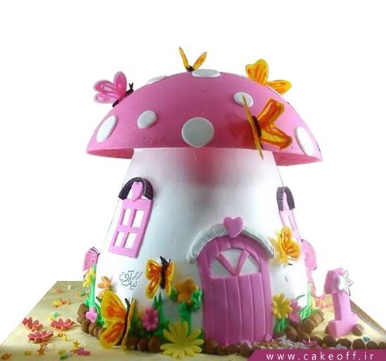 کیک تولد بچه گانه قارچی