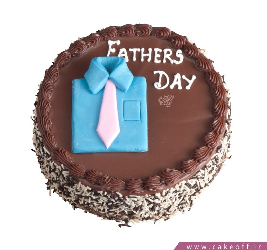 کیک ساده شکلاتی - کیک روز پدر بابادو | کیک آف