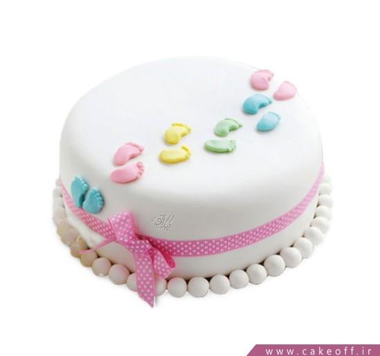 کیک تولد نوزاد گام نو