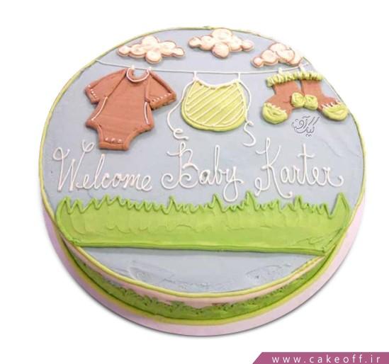 کیک تولد نوزاد - کیک شورز | کیک آف