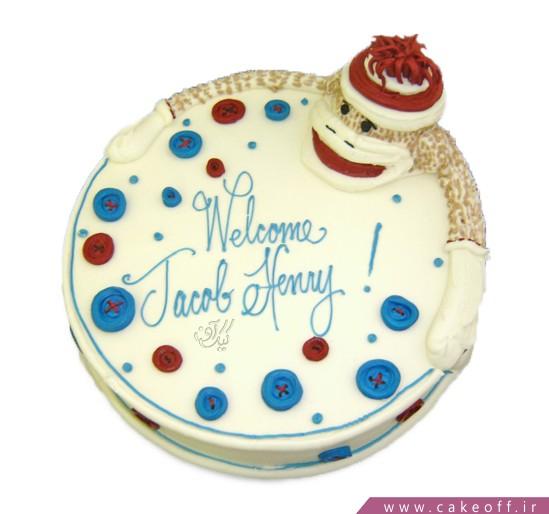 سفارش کیک در اصفهان - کیک خامه ای میمون بلا | کیک آف