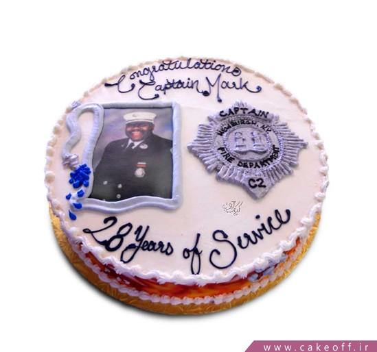 خرید کیک اینترنتی - کیک خامه ای کاپیتان | کیک آف