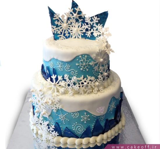 کیک تولد دونه برف