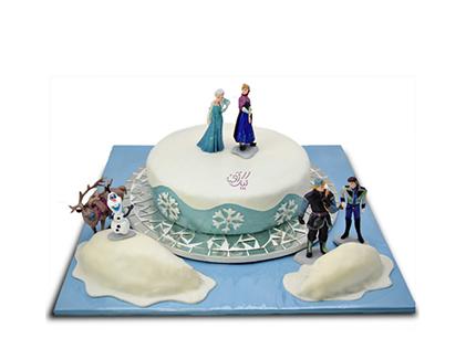خرید کیک تولد - کیک تولد دخترانه کیک السا و آنا 3 | کیک آف