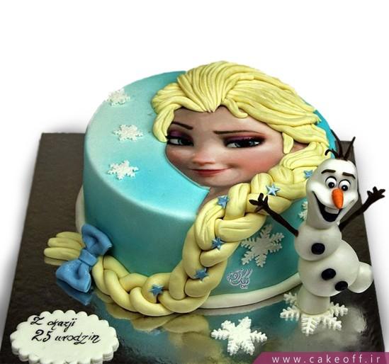 کیک تولد دخترانه السا و اولاف 1