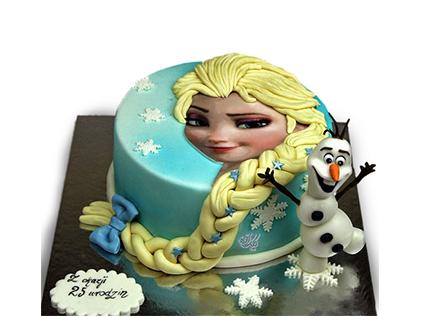 سفارش کیک تولد - کیک تولد دخترانه کیک السا و اولاف 1 | کیک آف