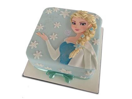 سفارش کیک تولد - کیک تولد دخترانه کیک السا موطلا | کیک آف