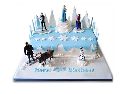 سفارش اینترنتی کیک - کیک تولد السا و آنا 2 | کیک آف