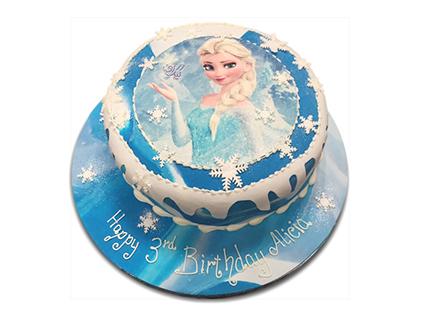 کیک تولد دخترانه - کیک السا در برف | کیک آف