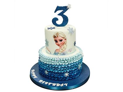 کیک تولد دخترانه - کیک السای خندان | کیک آف