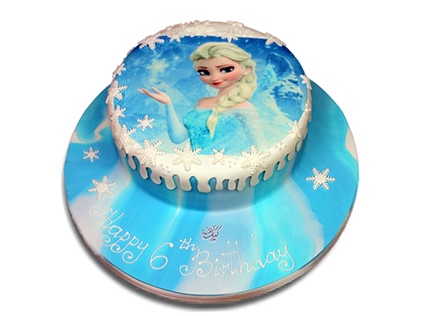 سفارش کیک تولد دخترانه - کیک السای مهربان | کیک آف