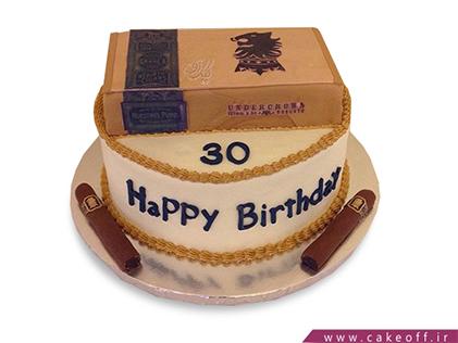 کیک تولد مردانه - کیک سیگارو دوست ندارم | کیک آف