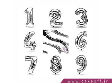 بادکنک عدد تولد - بادکنک فویلی عدد یک نقره ای | کیک آف