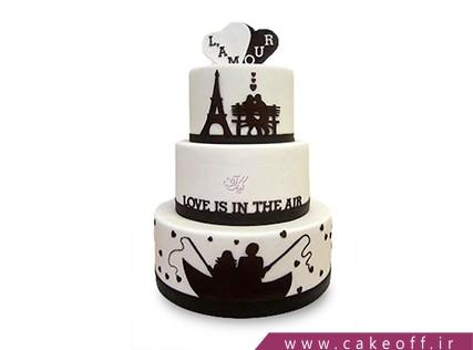 کیک سالگرد ازدواج - کیک شب های پاریس | کیک آف