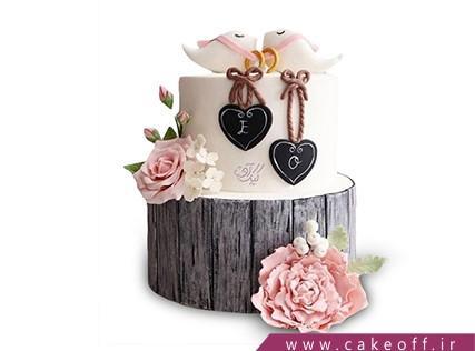 کیک عاشقانه دو پرنده | کیک آف