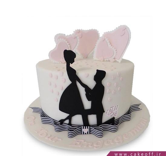 کیک نامزدی - کیک جشن شیرین | کیک آف