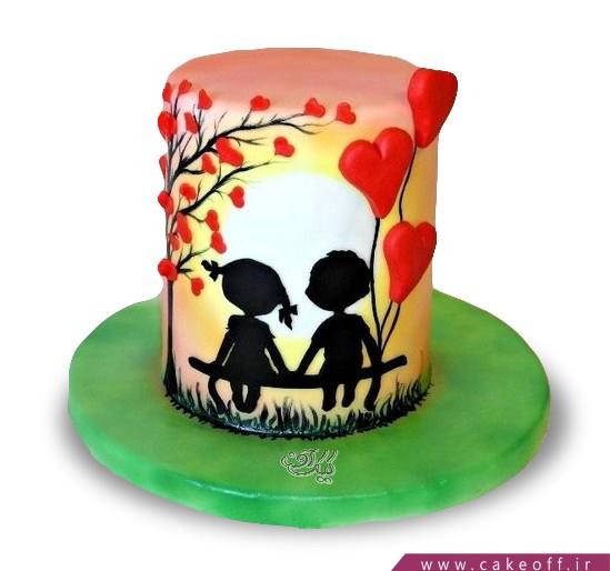 کیک عاشقانه - کیک کنارت زندگی قشنگه | کیک آف