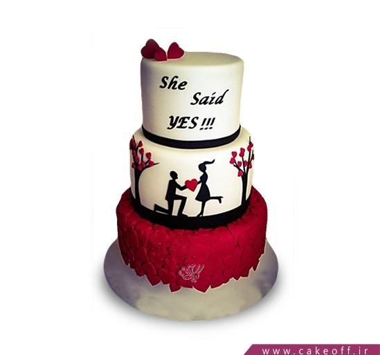 سفارش کیک نامزدی - کیک طعم شیرین بله گرفتن | کیک آف