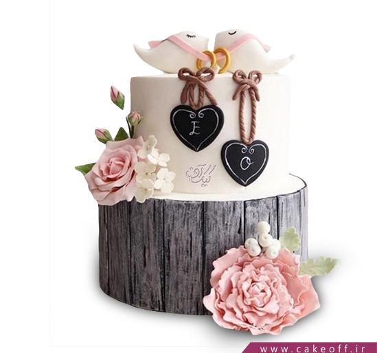 کیک عاشقانه دو پرنده