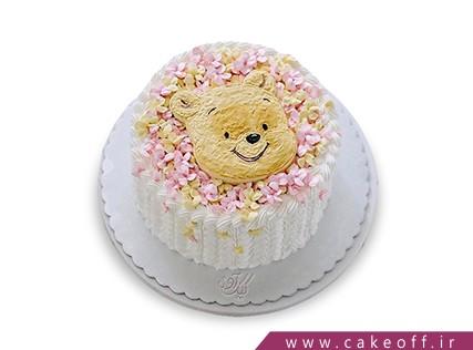 سفارش اینترنتی کیک تولد - کیک تولد دخترانه خرسی خانم | کیک آف