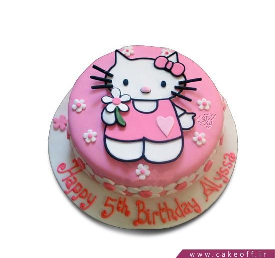 کیک کیتی صورتی