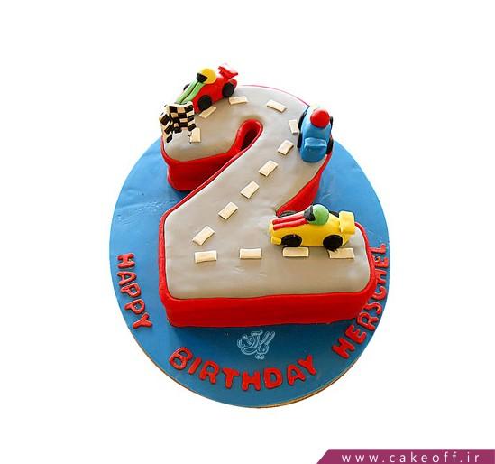 کیک ماشین مسابقه