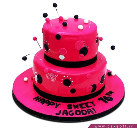 کیک دخترانه خال خالی