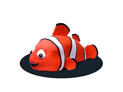 خرید کیک آنلاین - کیک بچه گانه ماهی نمو 1 | کیک آف