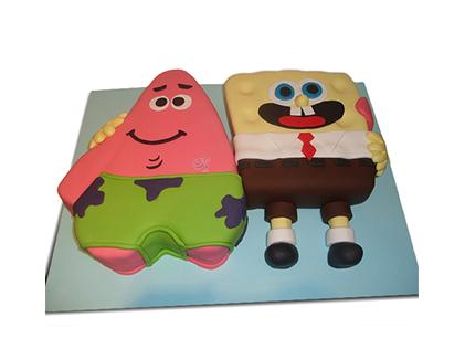 انواع کیک تولد - کیک تولد باب اسفنجی و پاتریک 1 | کیک آف