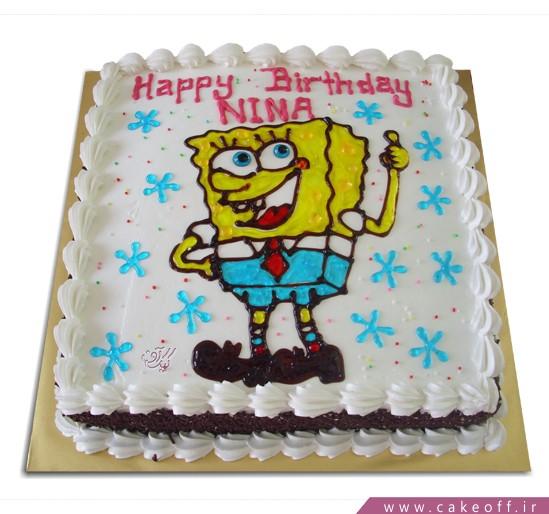 کیک باب اسفنجی خوشحال