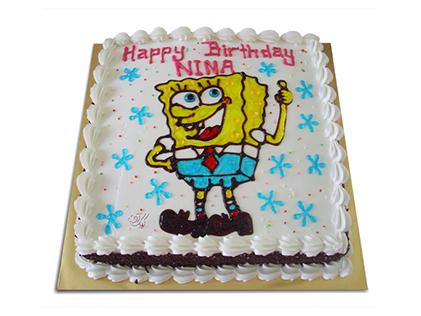 خرید انواع کیک تولد در اصفهان - کیک باب اسفنجی خوشحال | کیک آف
