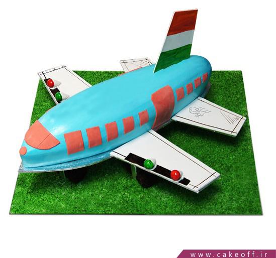 سفارش کیک فوندانت در اصفهان - کیک تولد بچه گانه کودک هواپیما | کیک آف