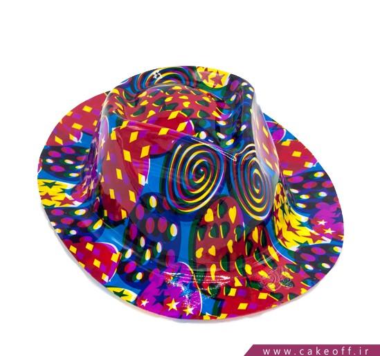 لوازم جشن - کلاه شاپو طرح رنگارنگ | کیکآف