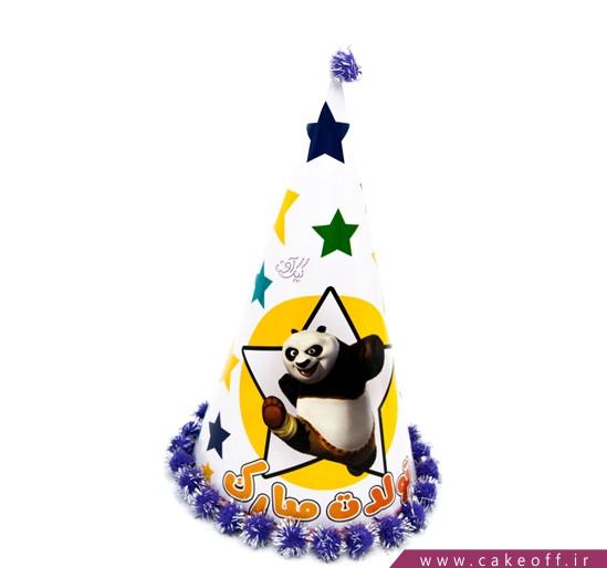 فروش آنلاین لوازم تولد - کلاه بوقی ستاره با تم پاندا | کیکآف