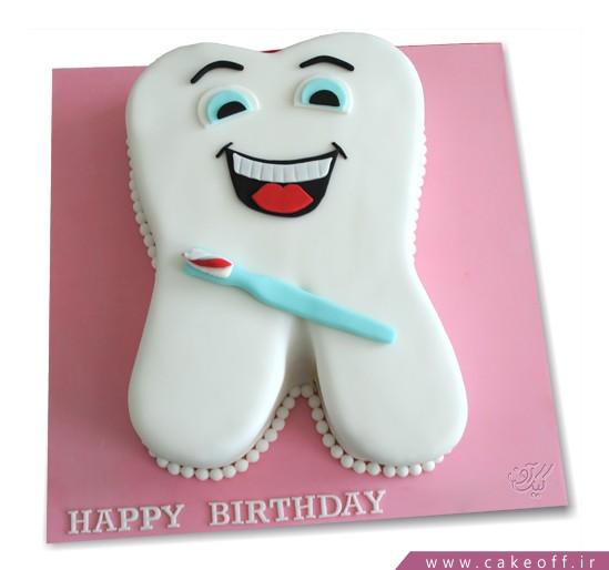 خرید کیک تولد اینترنتی - کیک جشن دندونی سپید دندان | کیک آف