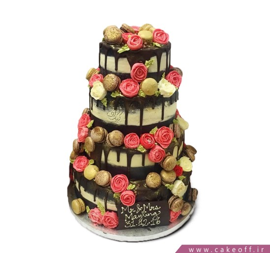سفارش کیک عروسی - کیک عروسی گلبن | کیک آف