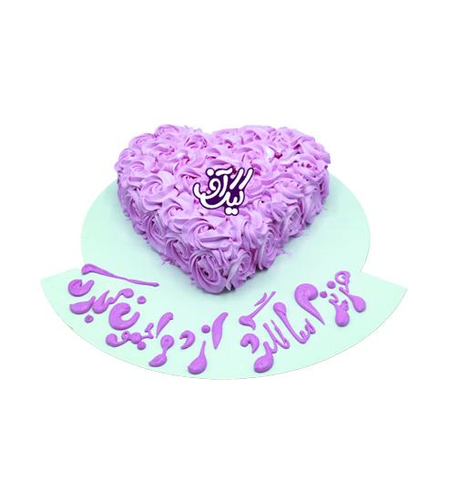 کیک درخشش یک قلب پاک