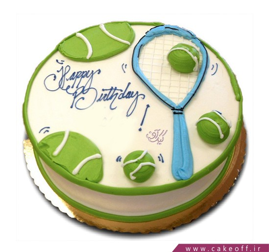 کیک تولد تنیس باز