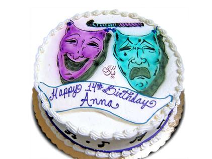 کیک چهره ی شاد و غمگین