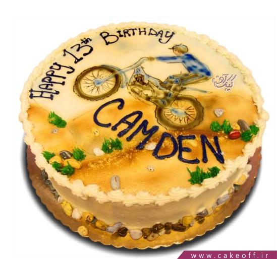 کیک تولد موتور سوار