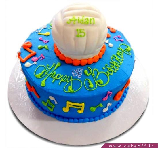 کیک تولد توپ و نت