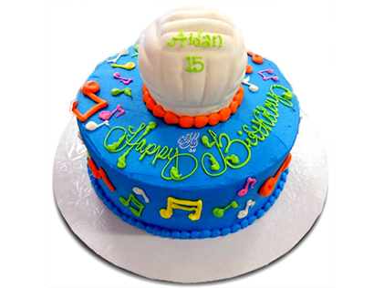 سفارش کیک تولد - کیک تولد پسرانه توپ و نت | کیک آف