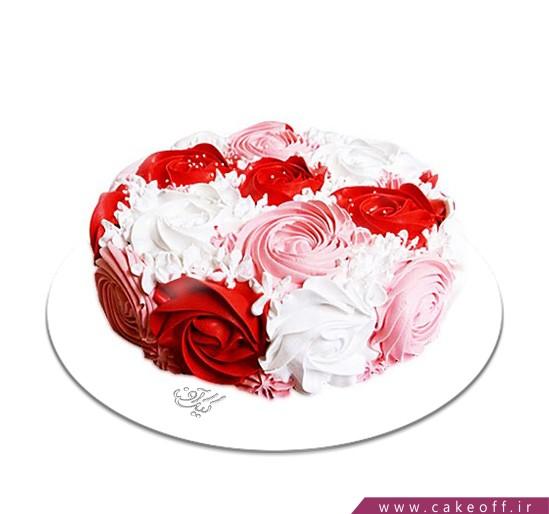 کیک خامه ای باغ گل