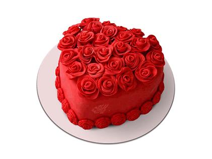 سفارش آنلاین کیک - کیک ولنتاین قلب تو | کیک آف