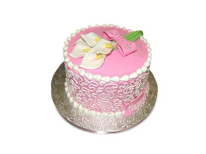 سفارش اینترنتی کیک در اصفهان - کیک تولد دخترانه ژینو | کیک آف