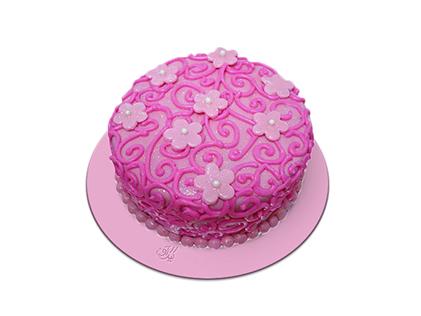 خرید اینترنتی کیک - کیک دخترانه بوژانه | کیک آف