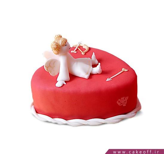 کیک عاشقانه فرشته عشق