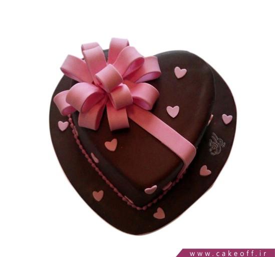 کیک قلب تک گل