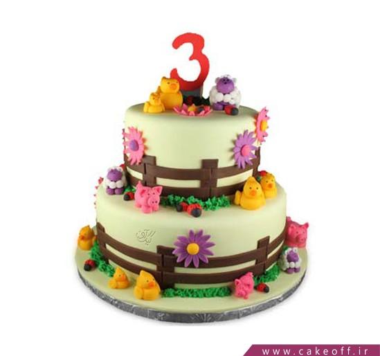سفارش کیک تولد کودک - کیک مزرعه حیوانات | کیک آف