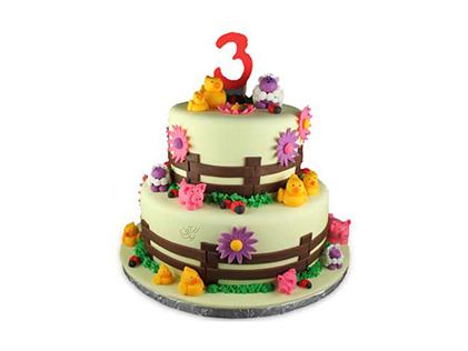سفارش کیک تولد کودک - کیک مزرعه حیوانات   کیک آف
